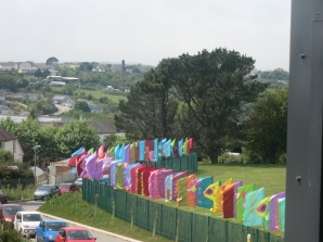Flags to welcome the visitors