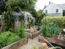 From the vegetable garden, back towards the house
