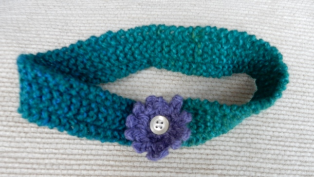 Purple, White and Green hairband