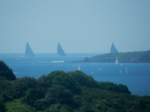 J Class yachts out in The Carrick Roads