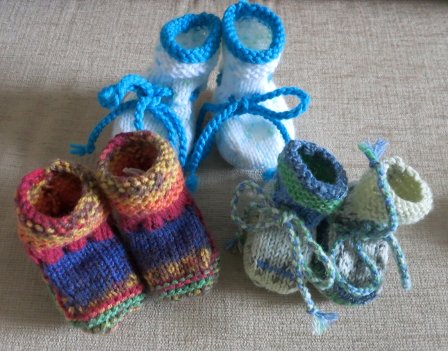 Three pairs of Sally-boots