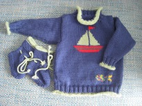 Sailing ship sweater and boots