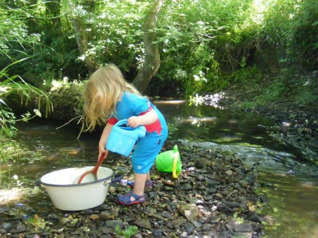 Water heaven in the Mussel Brook. —  in Sheepwash.