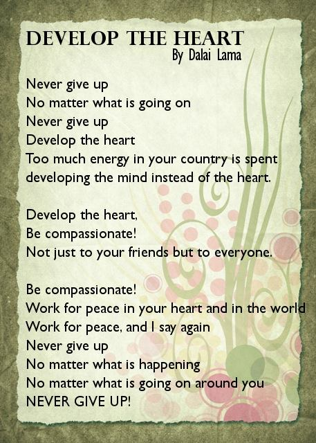 Develop the Heart by Dalai Lama
