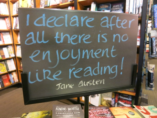 Sign in the bookshop