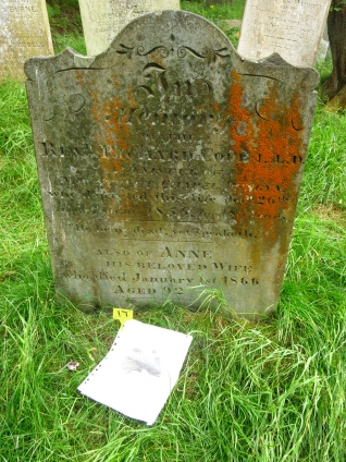 Rev Richard Cope and his wife who died of 'old age'. She was 92, a great age now never mind in 1866