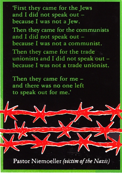 First they came....