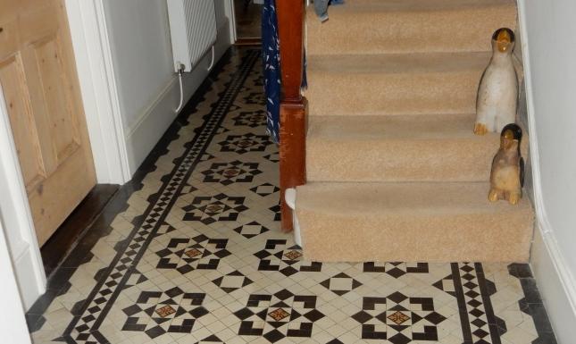 Victorian tiled hall floor