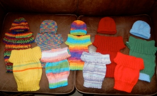 Sorting which ones still need hats