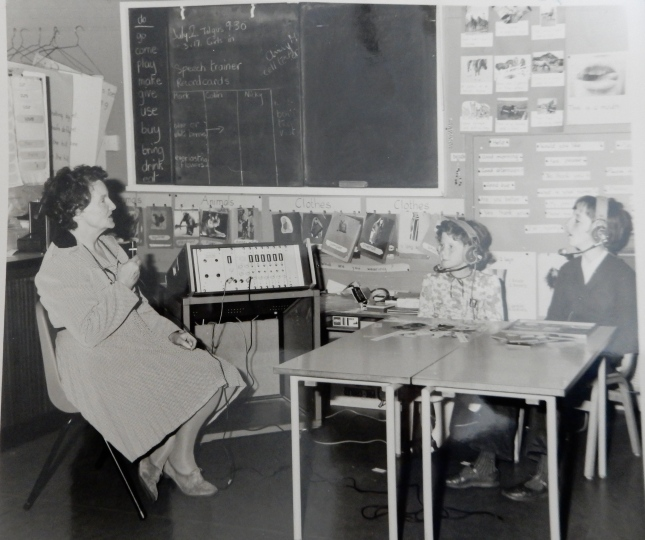 Mrs Wiseman, my Mum, at Roskear School