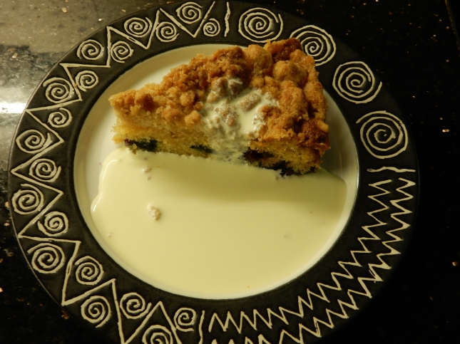 Ginger Blueberry Streusel Cake