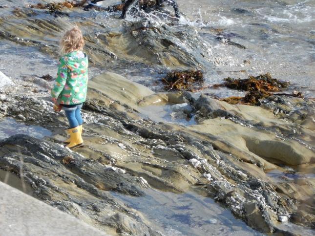Child on the rocks
