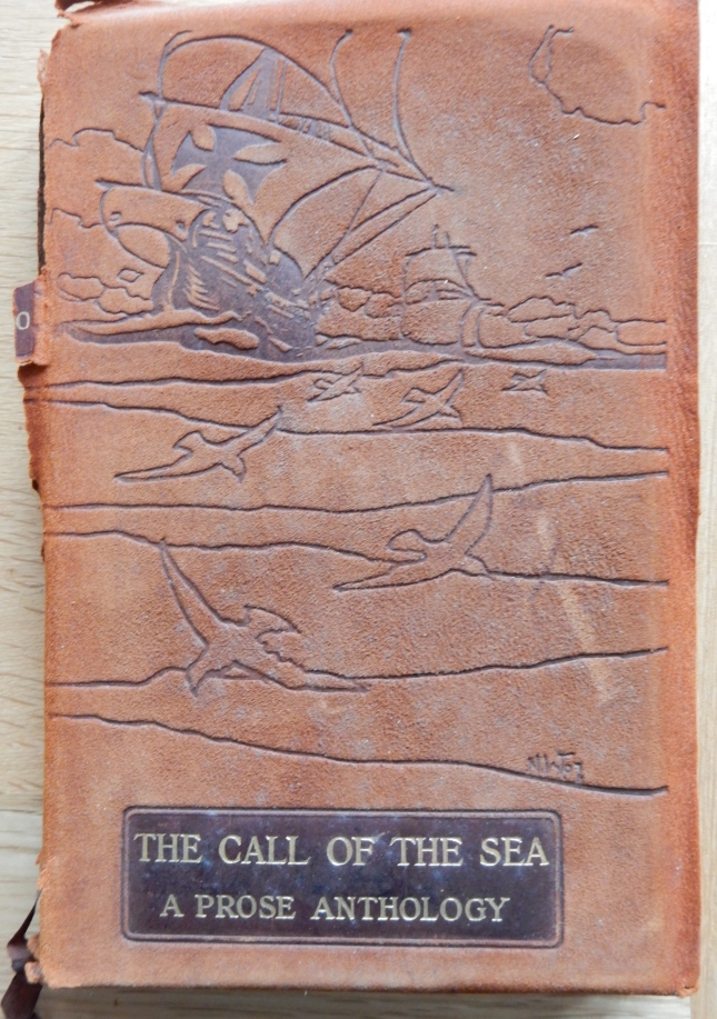 Leather tooled cover of The Call of the Sea