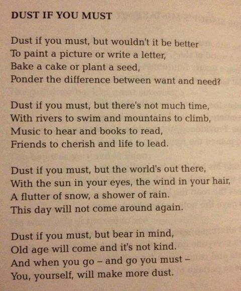 Dust if you must