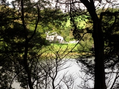 Looking across Loe Pool to the Victorian Lodge