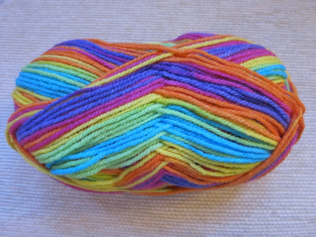 Rainbow baby soft yarn
