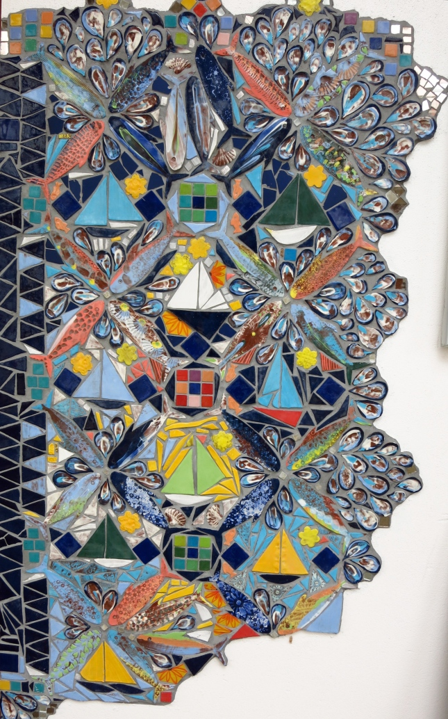 Mosaic outside Miss Peapod's