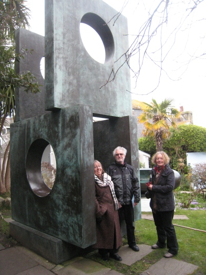 In the Barbara Hepworth garden, St Ives, Cornwall