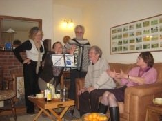 Making music together with friends in Hatfield, South Yorkshire