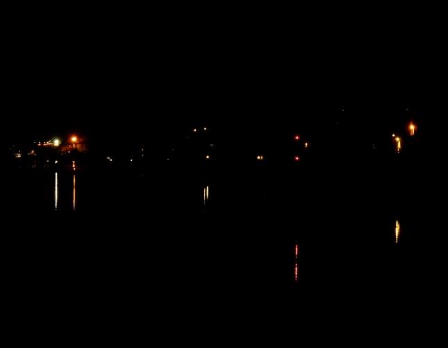 Lights on The Penryn River