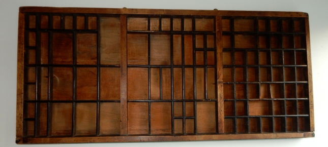 Old print tray