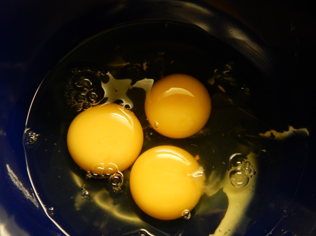 A trio of eggs