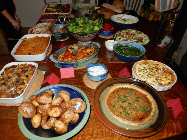 Last night's party food - there were desserts too!