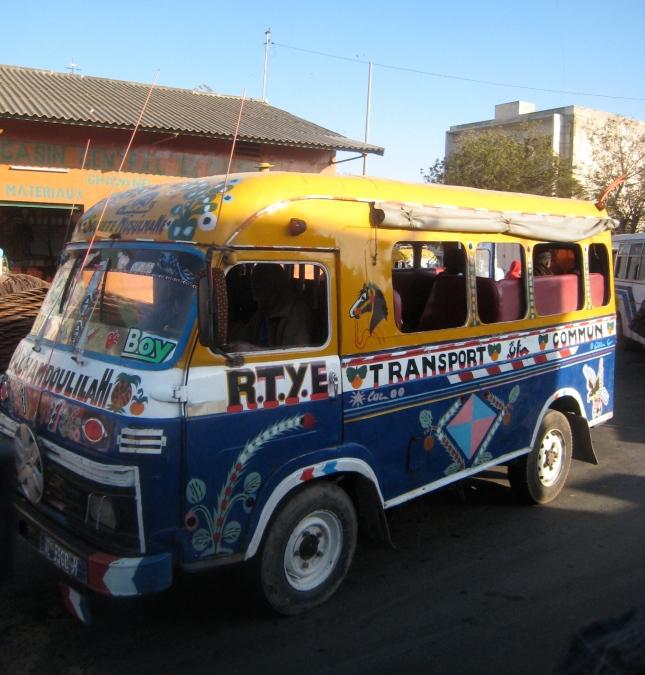 Beautiful bus in Dakar, Senegal