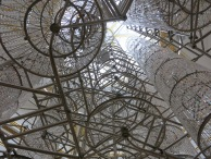 Chandelier made from bicycles