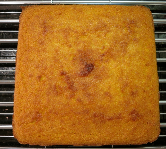 Cornbread just out of the oven