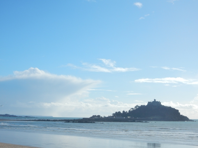 St Michael's Mount and a huge cloud