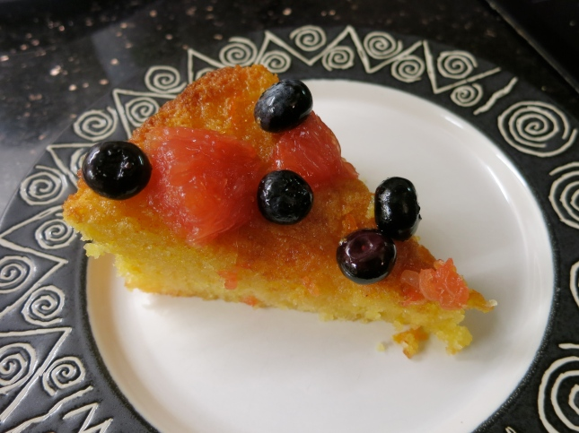 Grapefruit and Polenta cake