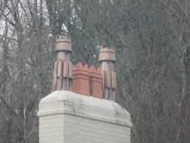 Beautiful chimneys on the Manor