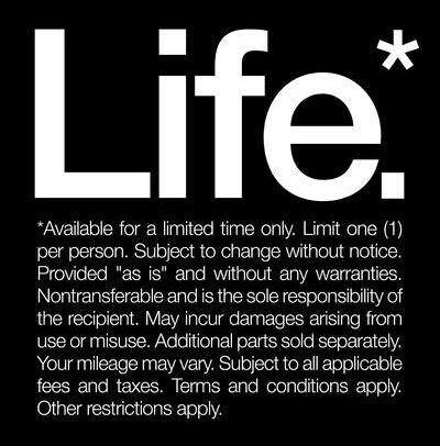 Life - we have just the one each