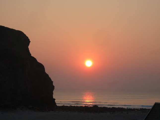 Sunset over Porthtowan