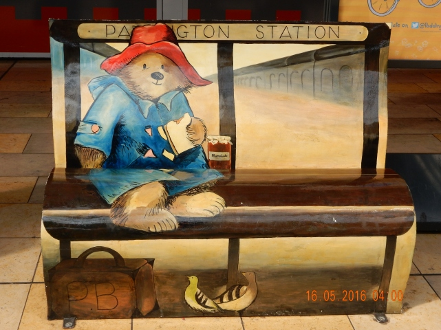 Paddington Bear, 4am in Washington, 9am in the UK and we have been travelling all night with another 5 hours to go on the train!