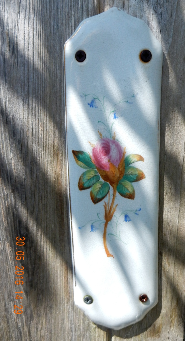 Antique painted finger plate
