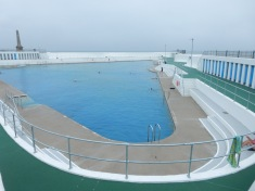 The Art Deco Pool, newly restored after the storms of 2014