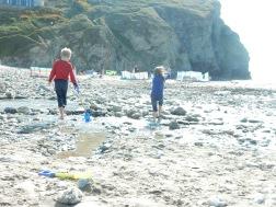 On Porthtowan Beach