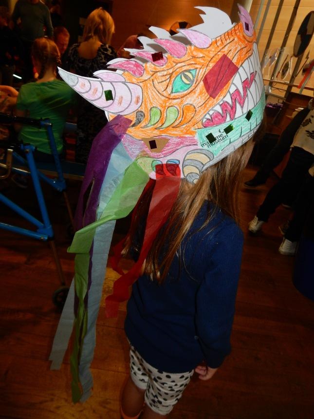 Wearing my dragon mask