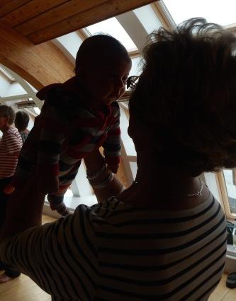 Having fun with his Granny