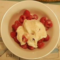 Meringue, Raspberries and Creme Fraiche dessert