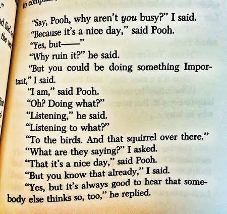 It's a nice day - Pooh