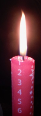Our Advent candle