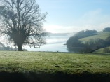 The mist clearing across to Channals Creek and out to The Carrick Roads