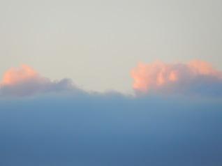 Peachy clouds