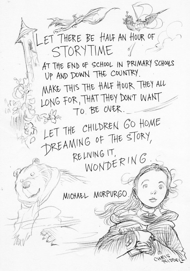 Image result for michael morpurgo let there be half an hour of storytime