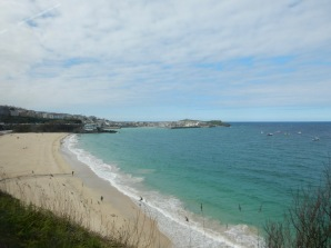 From the train, going towards St Ives