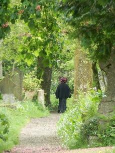 Walking through the graveyard