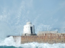 The Pepper Pot in wave spray